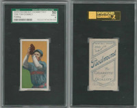 T206 ATC Baseball, 1909, Tom Downey (fielding), Cincinnati, SGC 50 VGEX