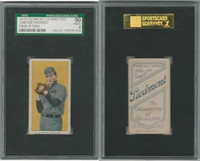 T206 ATC Baseball, 1909, Bob Rhoades (hands at chest), Clev., SGC 50 VGEX
