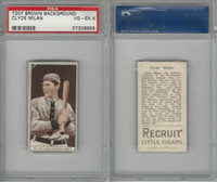 T207 ATC Baseball, 1912, Clyde Milan, Washington, PSA 4 VGEX