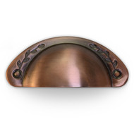 SK-0057 Antique Copper Leaf Cup Pull