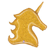 Gold Glitter Holographic Unicorn