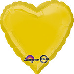 Citrine Yellow Foil Heart