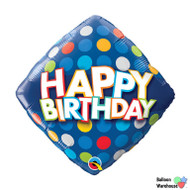 Happy Birthday Blue Colorful Dots
