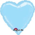 Pastel Blue Foil Heart