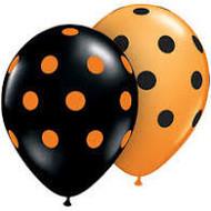 Orange and Black Polka Dots