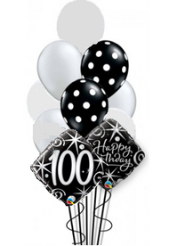 100th Birthday Sparkles & Dots