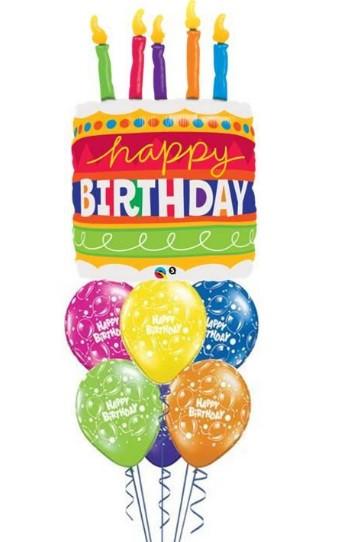 Fabulous Big Birthday Cake Bouquet Balloons To Go Funny Birthday Cards Online Alyptdamsfinfo