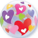 Colorful Hearts Bubble