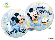 Mickey 1st Birthday Bubble