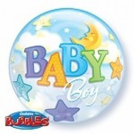 Baby Boy Moon & Stars Bubble