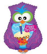 Happy Birthday Owl - Jumbo