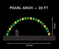 Pearl Arch - 20 Ft