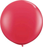 """36"""" Red Helium filled Latex balloon w/ Hi Float"""