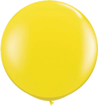 "36"" Yellow Helium filled Latex balloon w/ Hi Float"