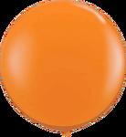 "36"" Orange Helium filled Latex balloon w/ Hi Float"
