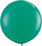 "36"" Green Helium filled Latex balloon w/ Hi Float"