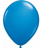 16 in Dark Blue Helium filled latex w/ Hi float