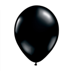 16 in Black Helium filled latex w/ Hi float