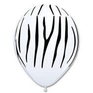 "11"" Zebra Print Latex"