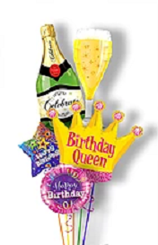 Bubbly Birthday Queen Bouquet