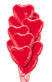Simply Red Hearts Bouquet