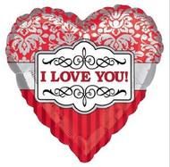 I Love You Silver Foil