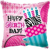 Happy Birthday Zebra, Dots and Stripes