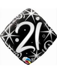 21st Birthday Elegant Sparkle
