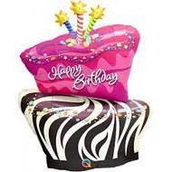 Funky Zebra Birthday Cake