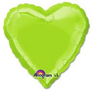 Lime Foil Heart