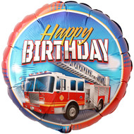 Firetruck Happy Birthday