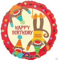 Sock Monkey Happy Birthday