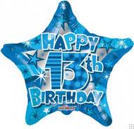13th Birthday Blue