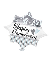 Happy Anniversary Damask & Stripes