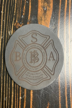 Black Smoke Leather Coasters
