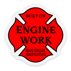 Blue Collar Firefighting Stickers