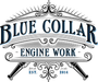 Blue Collar Engine Work Logo