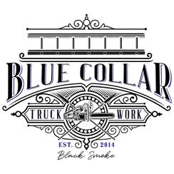 Blue Collar Truck Work Stickers