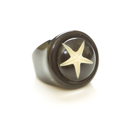 Children's Ring-White Starfish