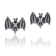 Vampire Bat Stud Earrings