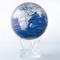 Solar-Powered Blue and Silver Globe - Thumbnail