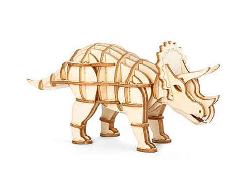 Triceratops 3D Wooden Puzzle Thumbnail