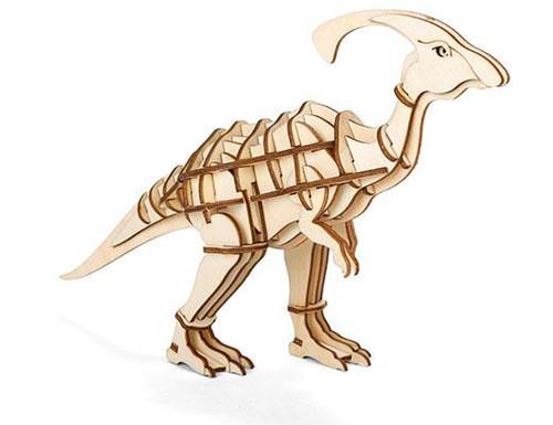 Parasaurolophus 3D Wooden Puzzle Thumbnail