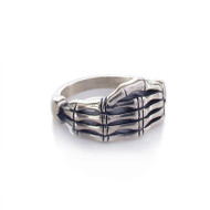Skeletal Hand Ring - Front
