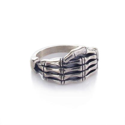 Skeletal Hand Ring - Front