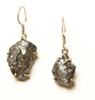 Sterling Silver Meteorite Earrings