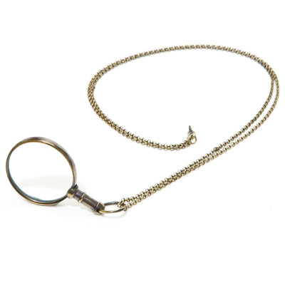 Magnifying Glass Pendant - With Chain