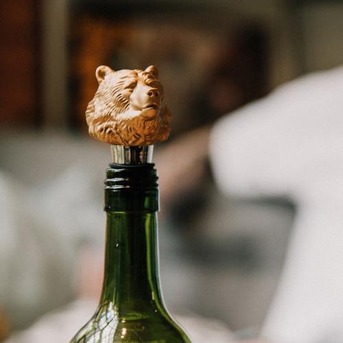 Bear Bottle Stopper - On bottle