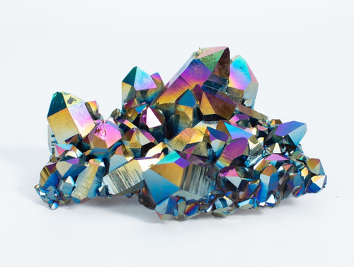 Titanium Coated Quartz Cluster - Thumbnail