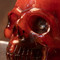 Faux Mexican Amber Skull - Closeup
